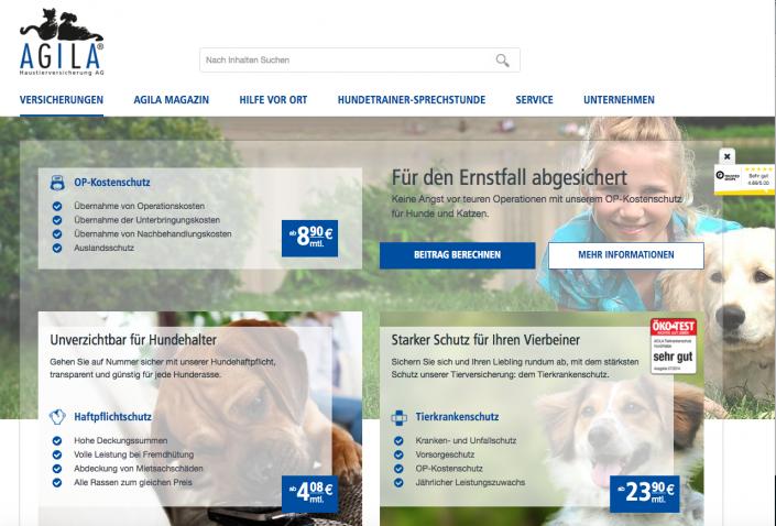 Haustierkrankenversicherung bei agila.de