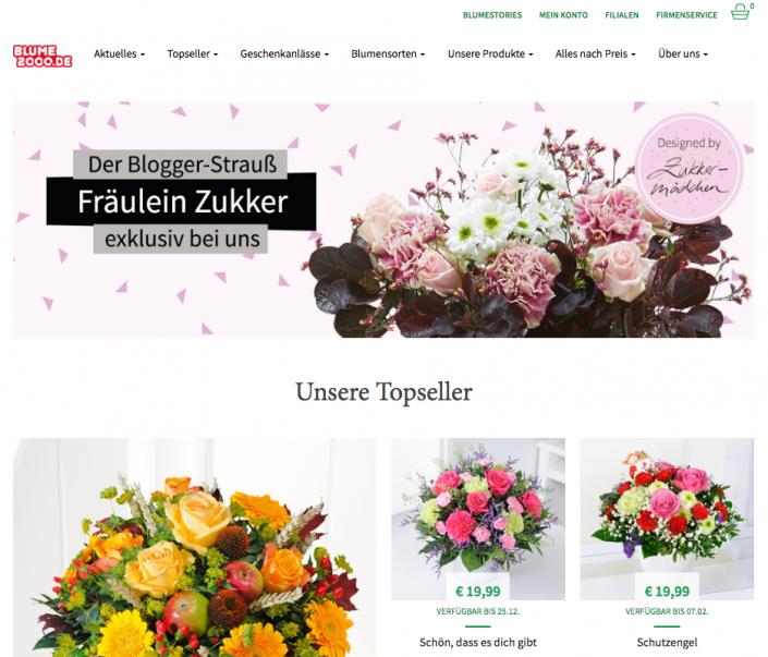 Blumenstrauß auf blume2000.de