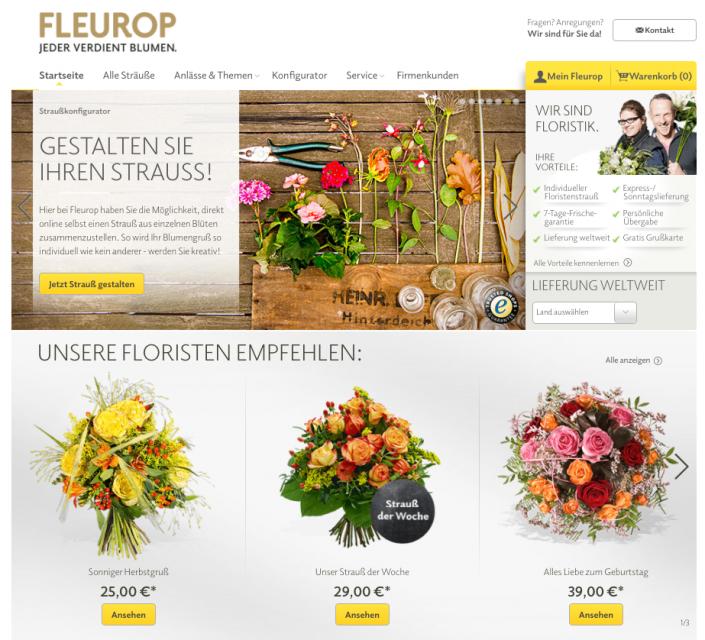 Blumenstrauß auf fleurop.de