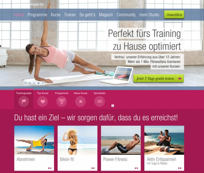 Online Fitness bei fitnessraum.de