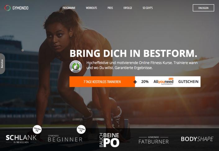 Online Fitness bei gymondo.de