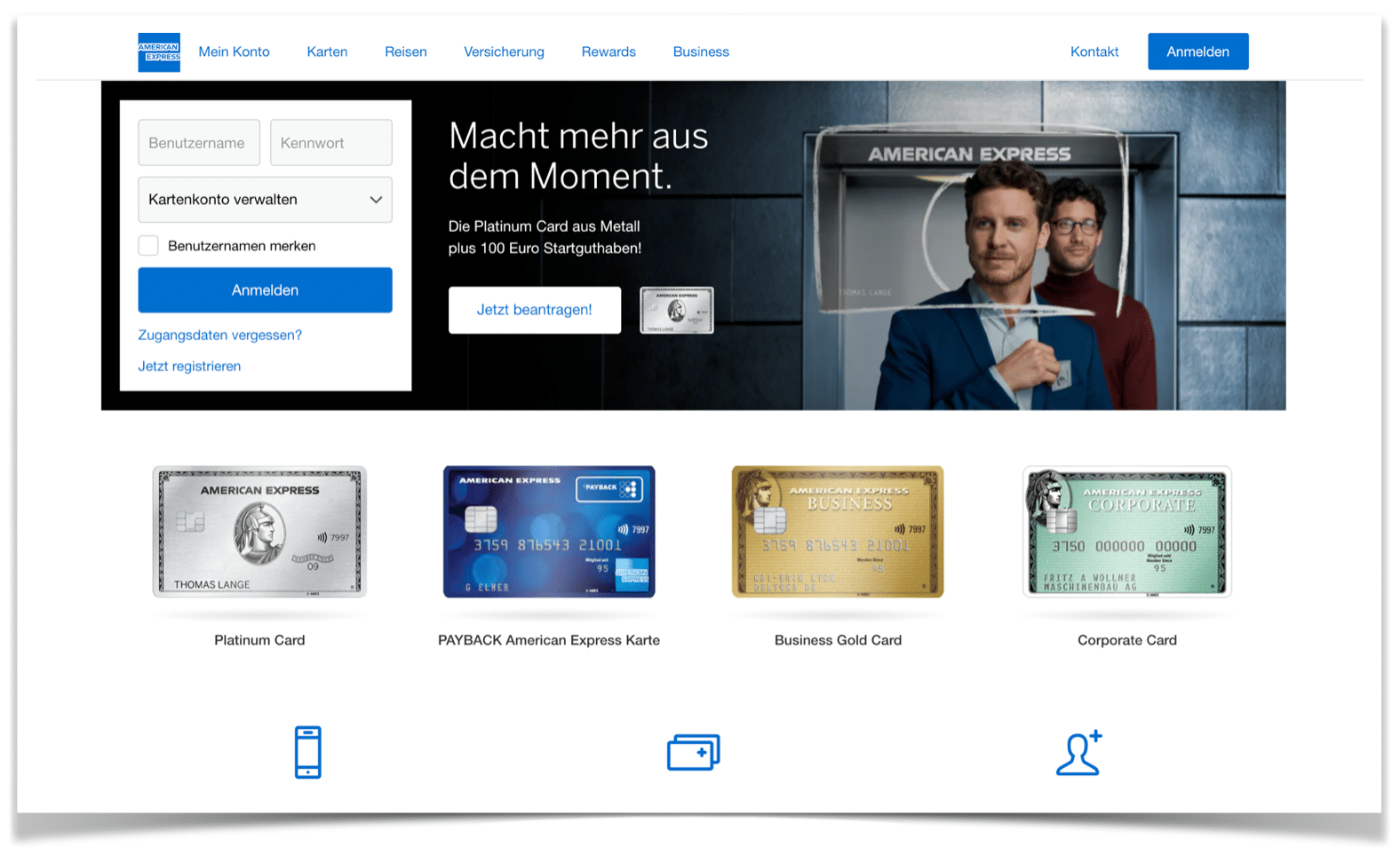 American Express Website
