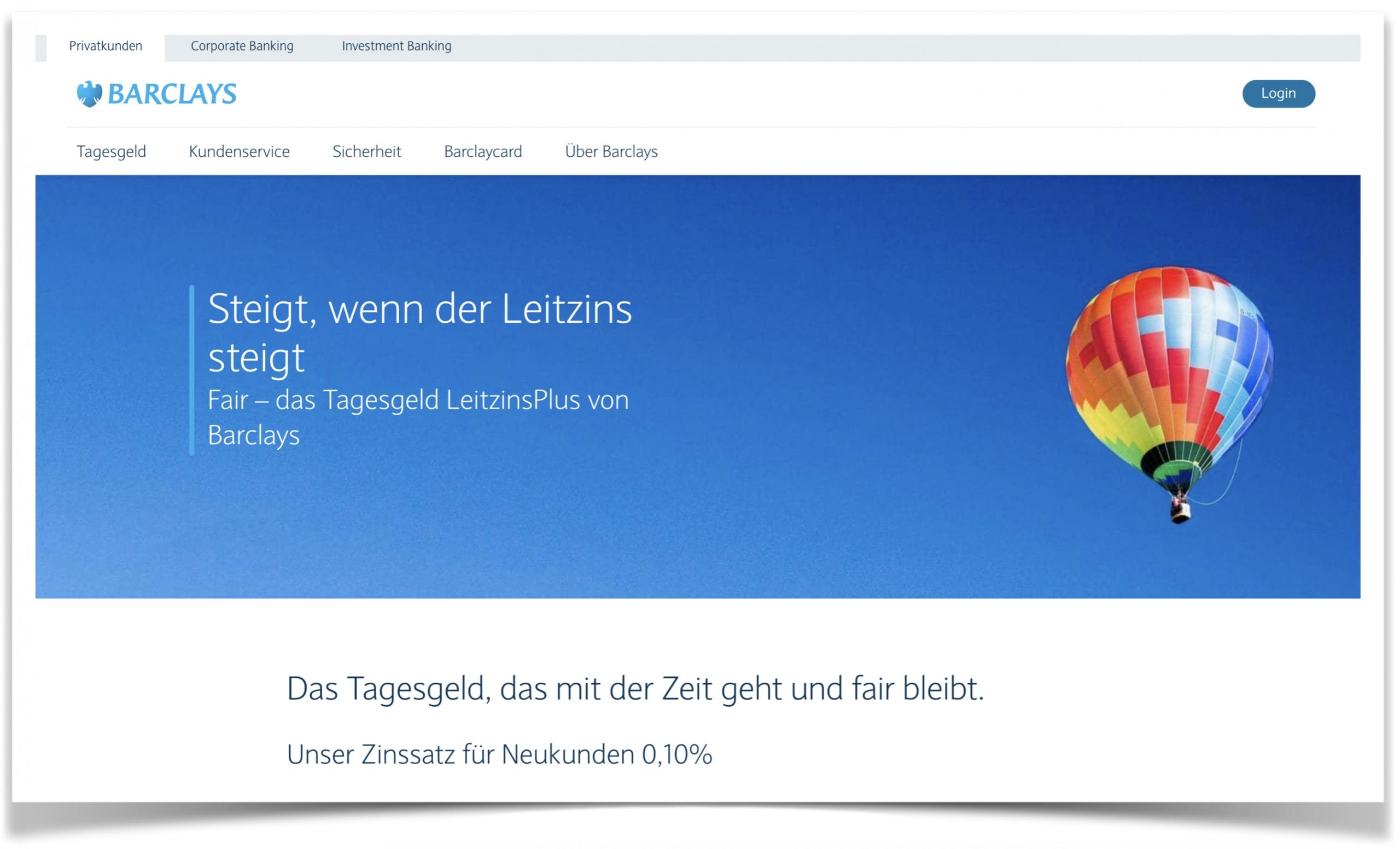 Barclays Website