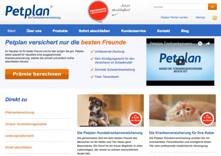 Haustierkrankenversicherung bei petplan.de