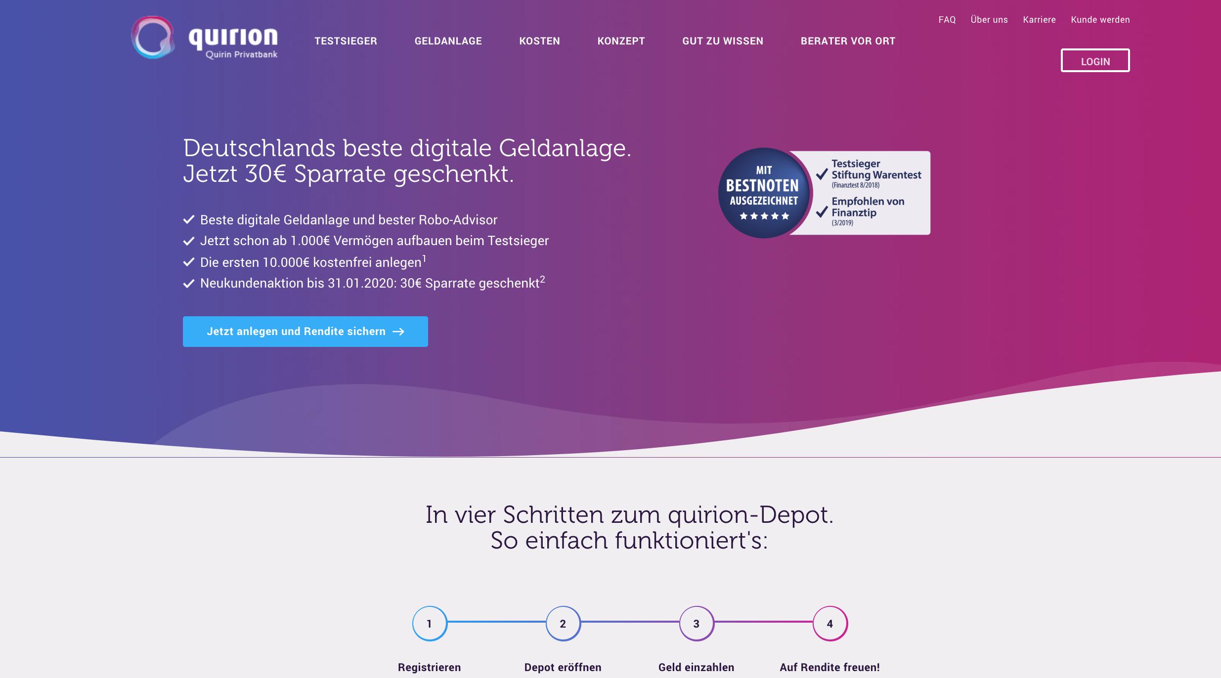 Quirion Website