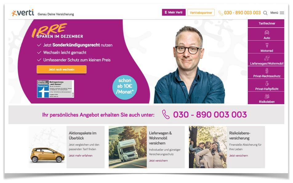 Verti Website