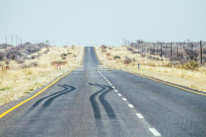 Weg in Wüste