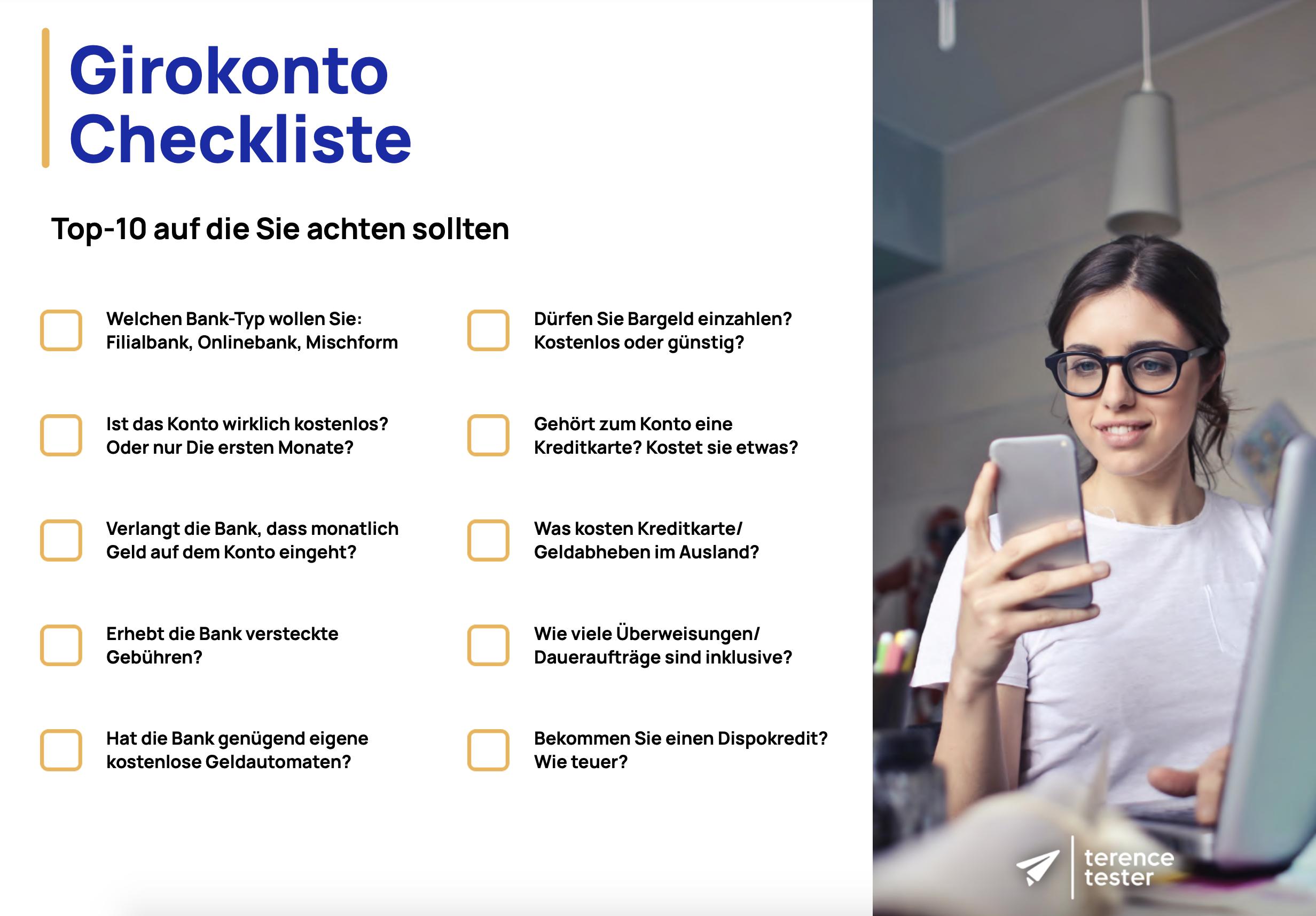Girokonto Checkliste