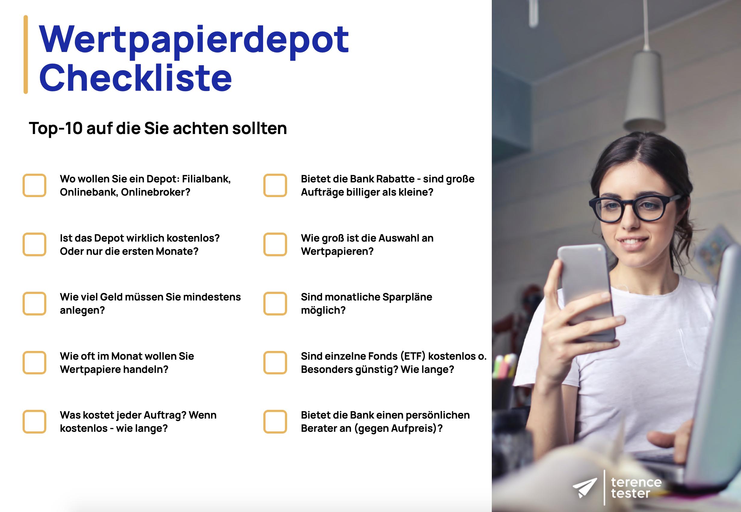 wertpapierdepot checkliste